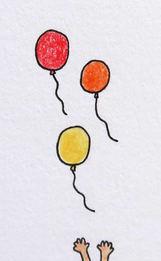 balloons drawing easy