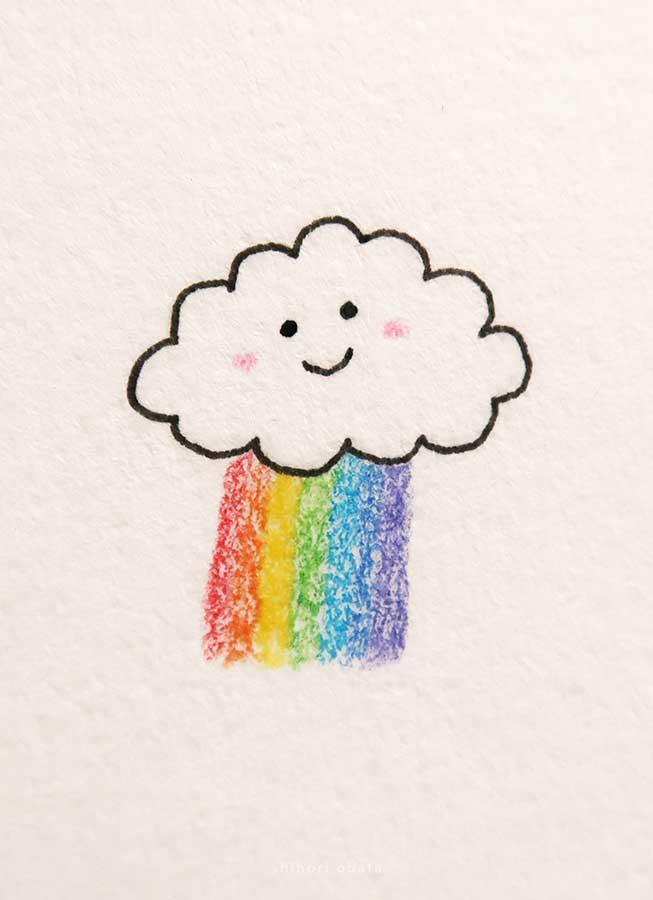 cloud drawing rainbow