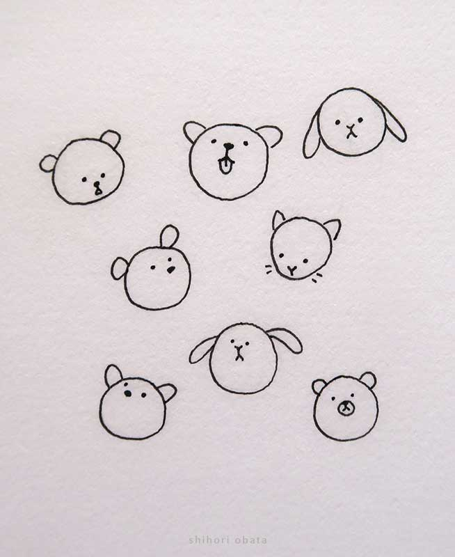 anime faces cute drawing