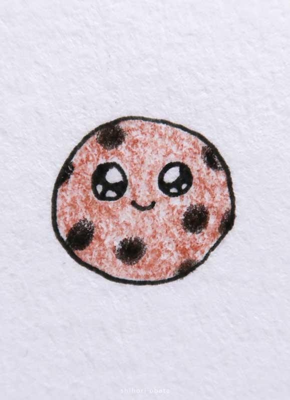 cute cookie drawing