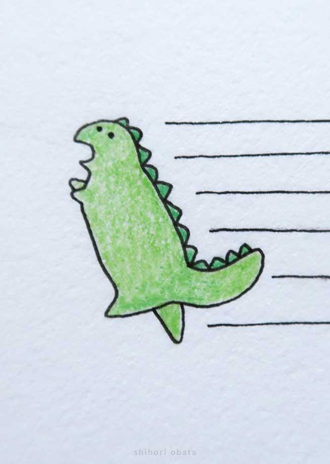 cute dinosaur drawing trex