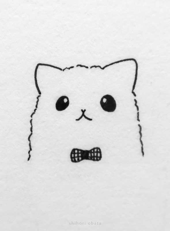 cute easy cat drawing