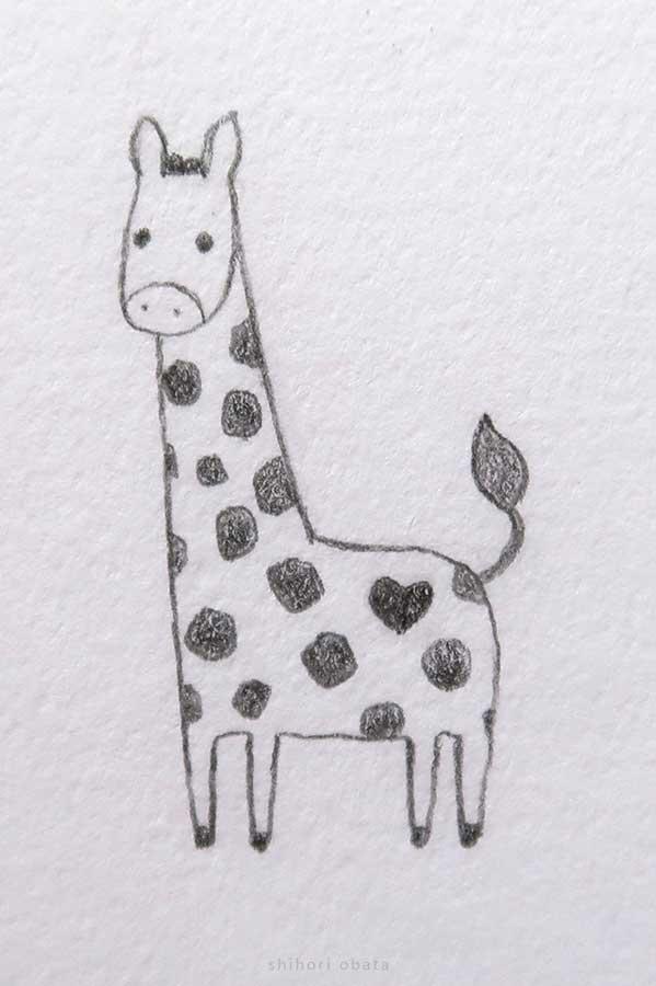 cute giraffe drawing
