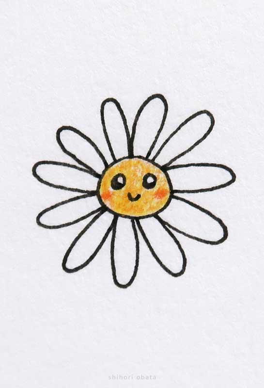 cute flower daisy drawing