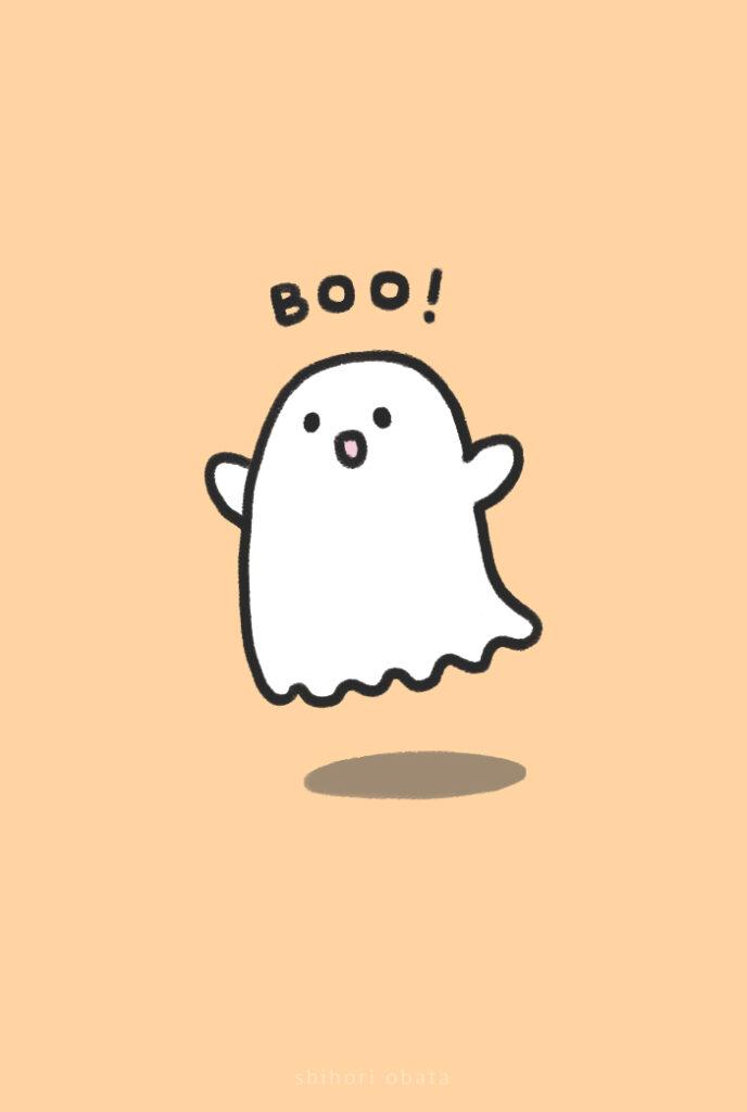 cute ghost drawing