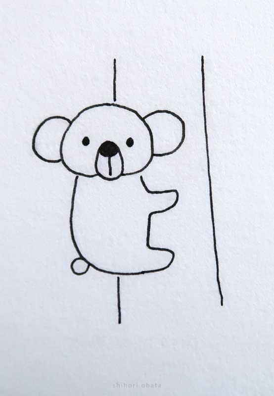 easy koala drawing