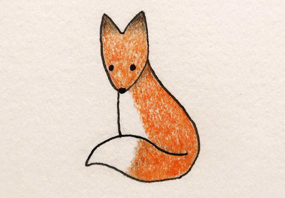 cute things to draw fox
