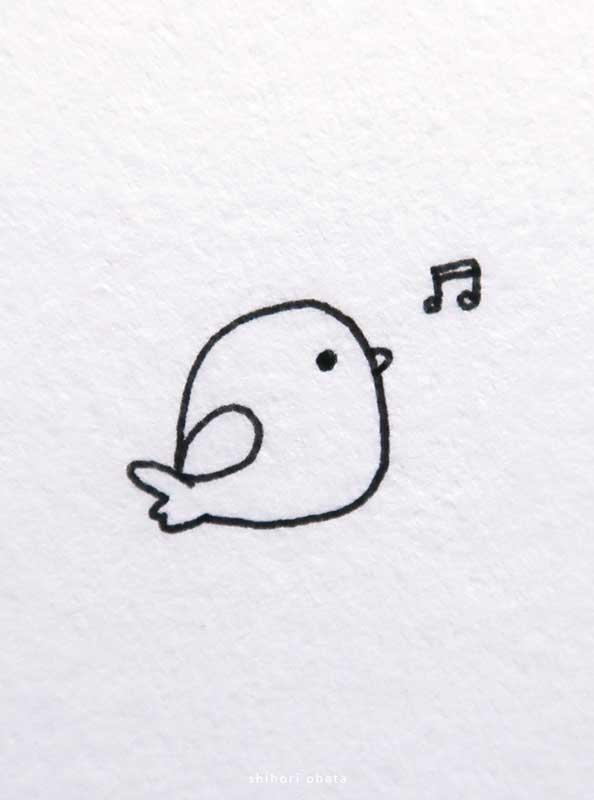 easy cute bird drawing