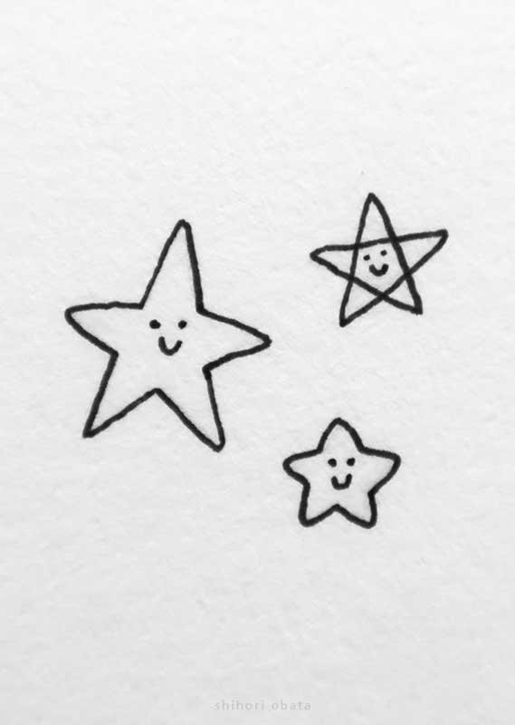 cute easy star drawing