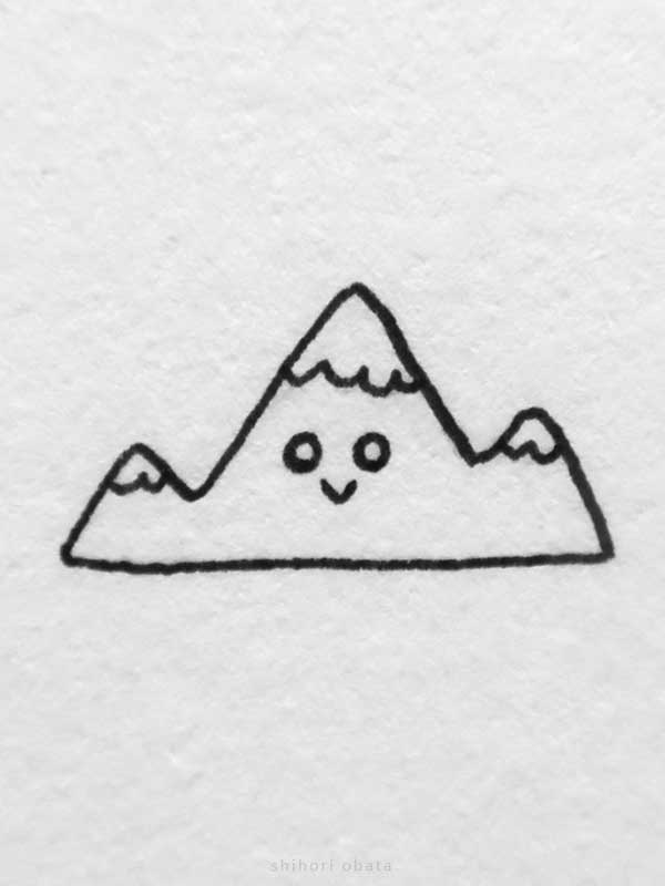 mountain drawing easy