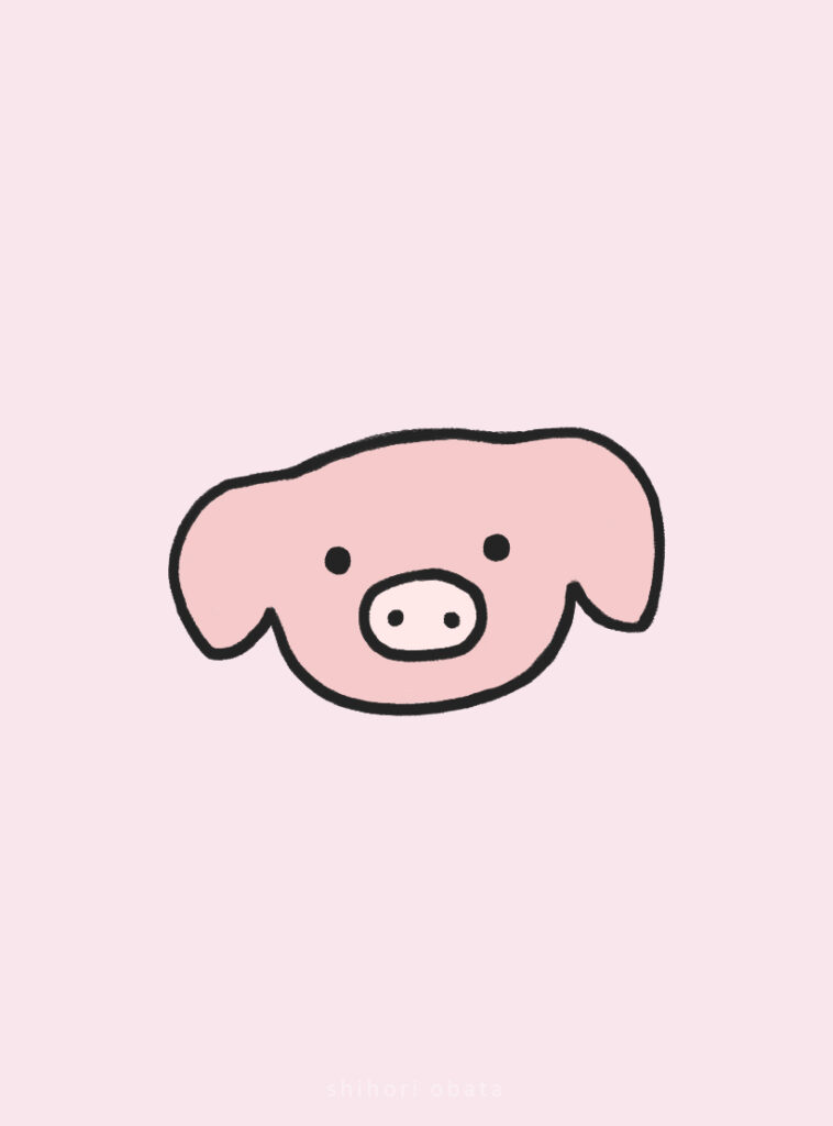 easy pig drawing