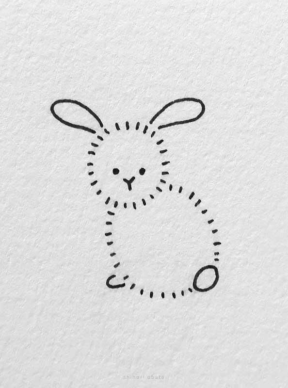 cute easy bunny drawing