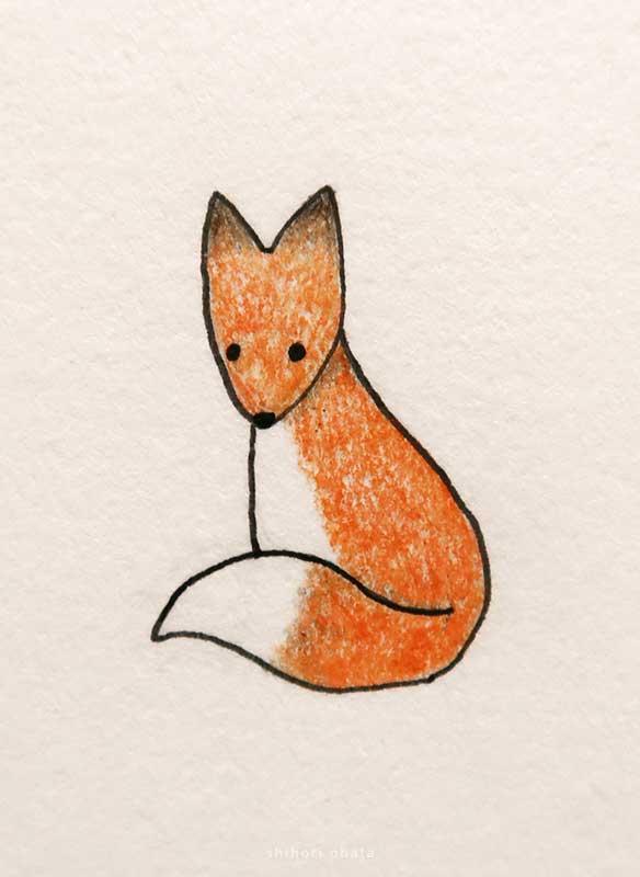 fox drawing easy cute