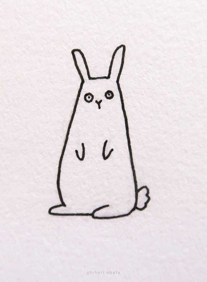 funny rabbit drawing