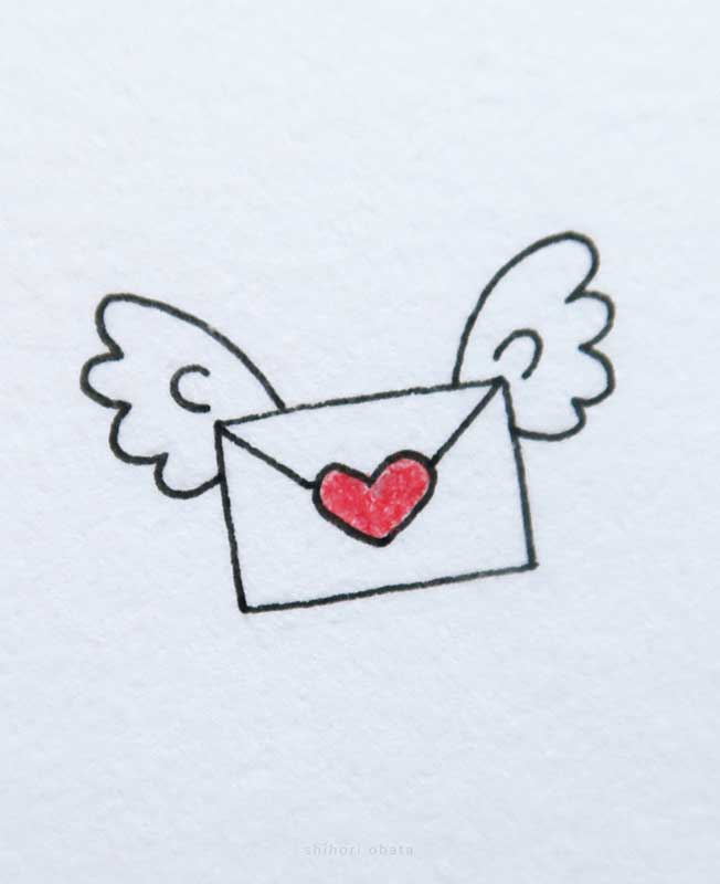 love letter mail drawing