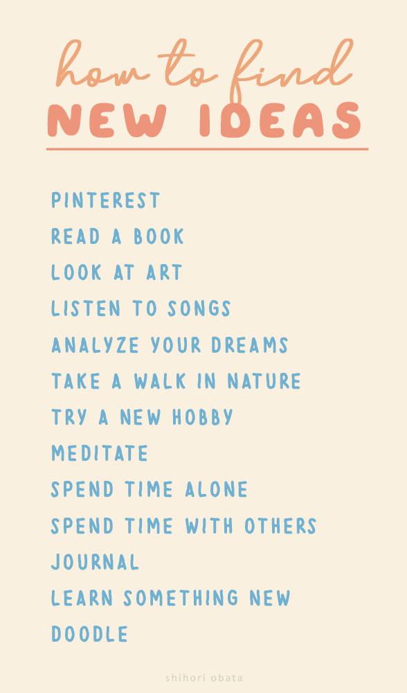 how to find new ideas inspiration
