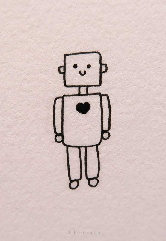 easy robot drawing