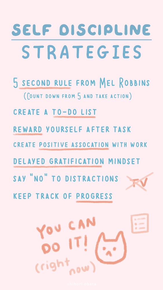 self discipline strategies