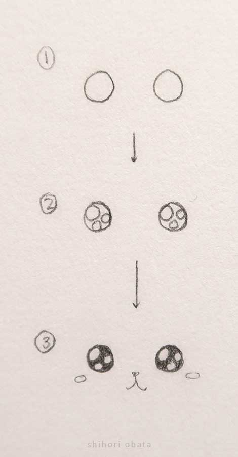 how to draw sparkly bubbly eyes
