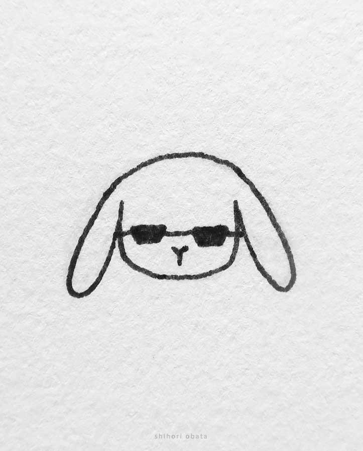 sunglasses rabbit drawing