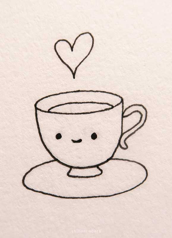 teacup drawing