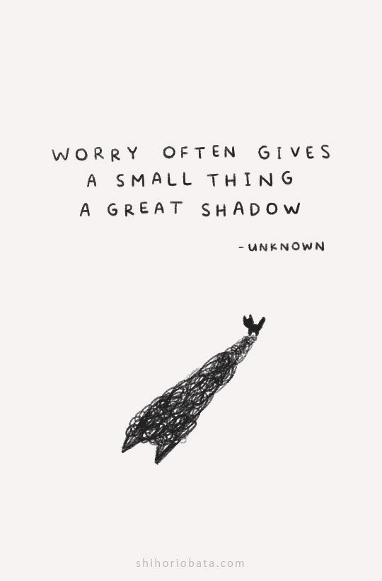 anxiety quotes worry often gives small thing